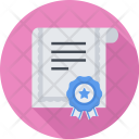 Certificate Seo Business Icon