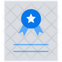 Certificate Certification Education Icon