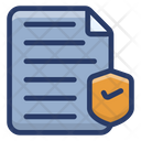Certified Document Approved Document Legal Document Icon