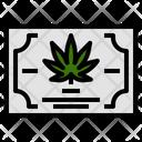 Certificate Marijuana Sativa Icon