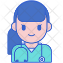 Certified Practitioner Female Practitioner Doctor Icon