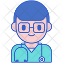 Certified Practitioner Male Practitioner Doctor Icon