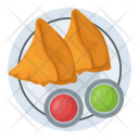 Fried Pastry Meat Icon