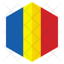 Chad Flag Hexagon Icon