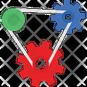 Chain Cog Chain Combination Icon