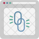 Chain Link Hyperlink Link Building Icon