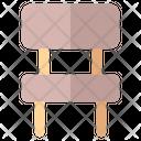 Chair Furniture School Icon