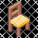 Chair Wooden Chair Armless Chair Icon