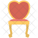 Chair Wooden Heart Shaped Icon