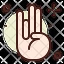 Chakra Palm Peace Icon