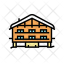 Chalet House Color Icon