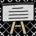 Presentation Board Chalkboard Artboard Icon