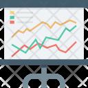 Chalkboard Graph Presentation Icon