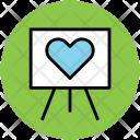 Chalkboard Love Heart Icon