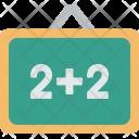 Chalkboard Math Basics Icon