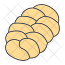 Challah Bread Loaf Icon