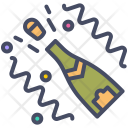 Champagne Bottle Open Icon