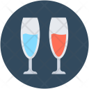 Champagne Glasses Flute Icon
