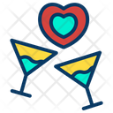 Date Love Glasses Icon