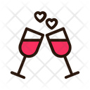 Champagne Date Love Icon