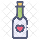 Champagne Love Wine Icon