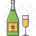 Champagne Wineglass Wine Icon