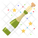 Champagne Bottle Christmas Icon