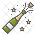 Champagne Bottle Pop Icon
