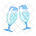 Champagne Party Glass Icon
