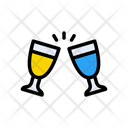 Champagne Drink Dating Icon