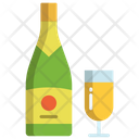 Achampagne Champagne Bottle Glass Icon