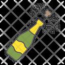 Champagne Bottle Pop Icon