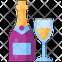 Champagne Beverage Drink Icon