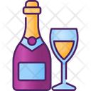 Champagne Beverage Drink Icon