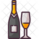 Champagne Bottle Alcoholic Drink Icon