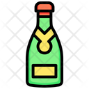 Champagne Wine Bottle Icon