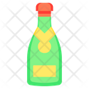 Champagne Wine Bottle Icon