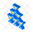 Champagne Glass Tower Icon