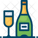 Champagne Alcohol Drink Icon