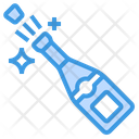 Champagne Alcohol Bottle Icon