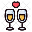 Wedding Day Filled Outline Icon