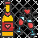 Champagne Vine Glass Icon