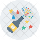 Popping Cork Splashing Icon