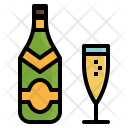 Champagne Bottle Cup Icon