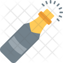 Popping Champagne Cork Icon