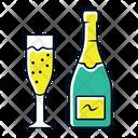 Champagne Uncorked Bottle Icon