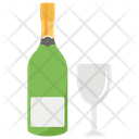 Champagne Popping Champagne Bottle Icon