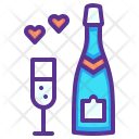 Champagne Love Heart Icon