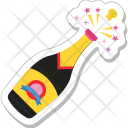 Champagne Bottle Alcohol Icon