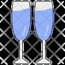Champagne Glasses Champagne Flute Drink Glasses Icon